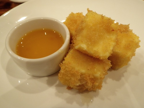 cheese cubes+duck sauce??